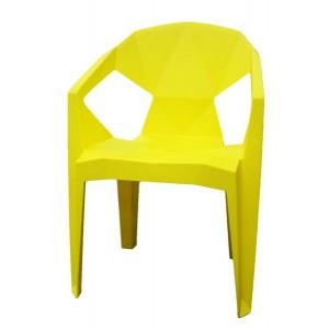 Krēsls plastmasas 54x40x80 dzeltens