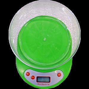 Svari virtuves digitālie ar trauku 5kg zaļi