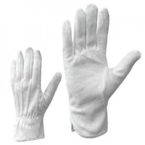 Cimdi tekstila ar PVC mikrop. balti 9.izm