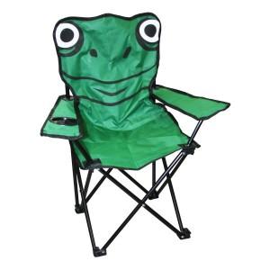 Kempinga krēsls bērniem varde