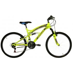 """Hogan mtb kalnu velosipēds ar pilno amortizāciju 24"""" (dzeltens)"""