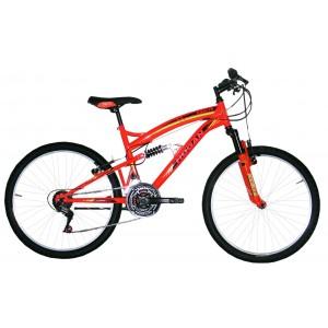 """Hogan mtb kalnu velosipēds ar pilno amortizāciju 26"""" (oranžs)"""