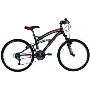 "Hogan mtb kalnu velosipēds ar pilno amortizāciju 26"" (melns)"