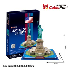 CubicFun 3D puzle Brīvības statuja