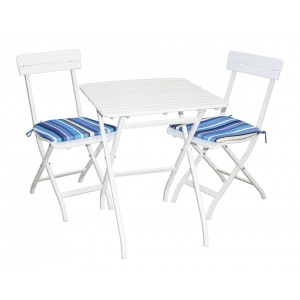 Dārza komplekts, galds ar 2 krēsliem