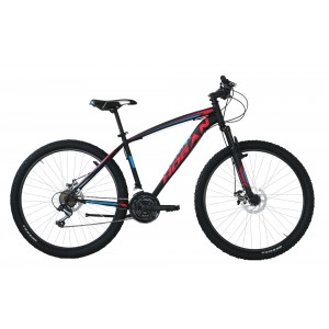 "Hogan MTB kalnu velosipēds Melns ar zilu 27,5"" ar disku bremzēm"