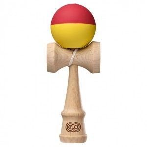 Kendama USA Kaizen 2.0 Half Split - Red and Yellow - Silk