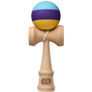 Kendama USA Kaizen Trip split Aqua Purple Yellow