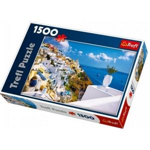 TREFL Puzle Griekija, Santorini, 1500 gb.