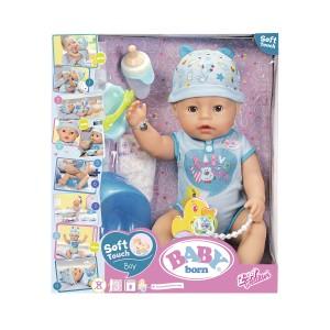 ZAPF Baby Born Soft Touch Interaktīvā lelle, puisītis, 43 cm