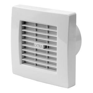 Ventilators EXTRA d100mm ar žalūz.,taim.,mitr.sens.