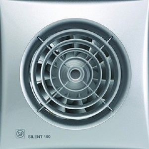 Ventilators Silent 100 CZ Silver vent.ar.gultn.vārstu