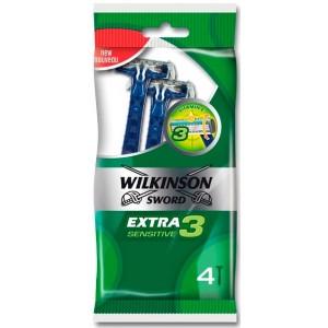 WILKINSON Extra3 Sensitive vienreizējas lietošanas skuvekļi, 4gb.