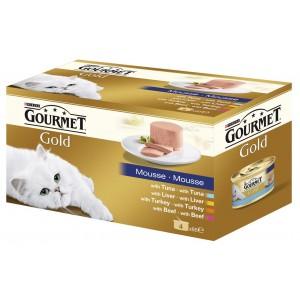 GOURMET GOLD kaķu konservi 4-paka pastēte 340g