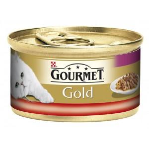 GOURMET GOLD kaķu konservs DUO (liellops,vista) 85g