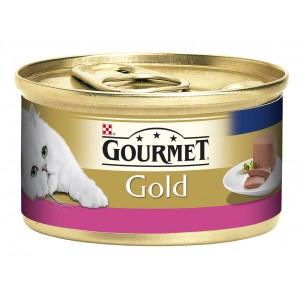 GOURMET GOLD kaķu konservs pastēte (liellops) 85g