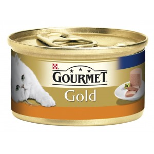 GOURMET GOLD kaķu konservs pastēte (tītars) 85g