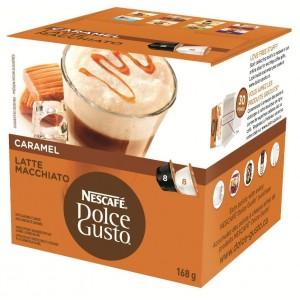 NESCAFE Dolce Gusto kafija Caramel Latte Machiatto, 168.8g