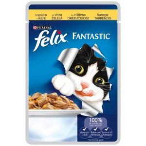 FELIX kaķu konservs gaļas gabaliņi (vista) 100g