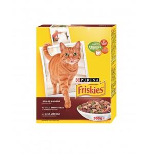 FRISKIES kaķu sausā barība (liellops, aknas, dārzeņi) 300g