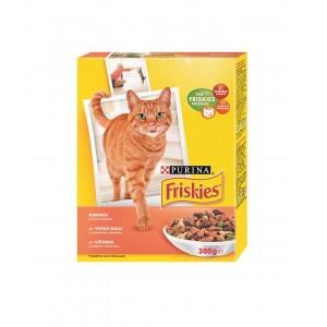 FRISKIES kaķu sausā barība (vista,aknas,dārzeņi) 300g