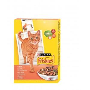 FRISKIES kaķu sausā barība (vista,aknas,dārzeņi) 1kg