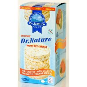 DR. NATURE Galetes rīsu, 120g