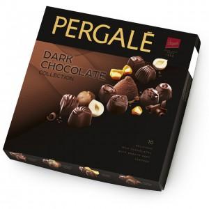 PERGALE konfekšu kārba tumšās šokolādes izlase 125g
