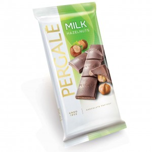 PERGALE piena šokolāde ar lazdu riekstiem 100g