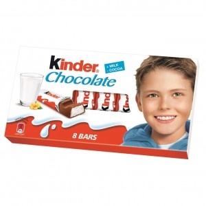 KINDER CHOCOLATE piena šokolāde bērniem, 100g