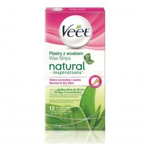 VEET Natural Inspirations depilācijas vasks Aloe Vera 12 gab