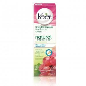 VEET Natural Inspirations depilācijas krēms Grape Seed 100ml