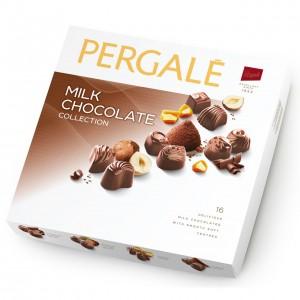 PERGALE konfekšu kārba piena šokolādes izlase 125g