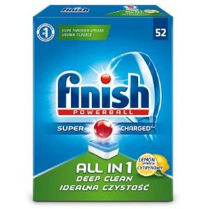 FINISH All in 1 Lemon tabletes trauku mazgāšanas automātiem 52gab