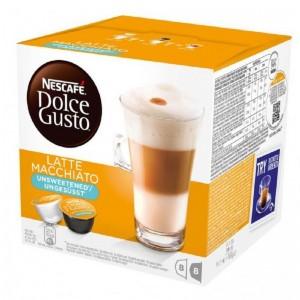 NESCAFE Dolce Gusto kafija Latte Macchiato Unsweet, 168g