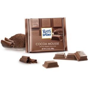 RITTER SPORT piena šokolāde - kakao muss, 100g