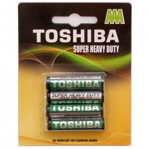 TOSHIBA cinka baterija AAA(mazais pirkstiņš R3), blister 4gb