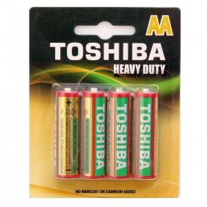 TOSHIBA cinka baterija AA(lielais pirkstiņš R6), blister 4gb