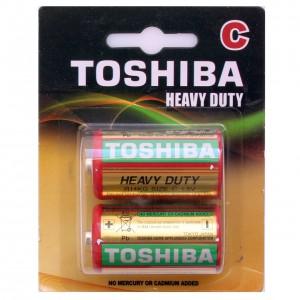 TOSHIBA cinka baterija C(vidējā apaļā R14), blister 2gb