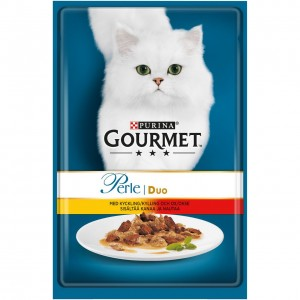 GOURMET PERLE kaķu konservs DUO liellops/vista 85g