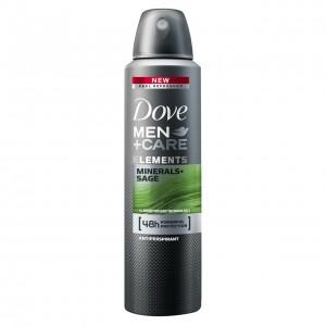DOVE MEN+CARE izsmidzināms dezodorants vīriešiem MINERAL&SAGE 150ml