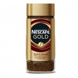 NESCAFE GOLD šķīstošā kafija ar grauzdētu malto kafiju, 100g