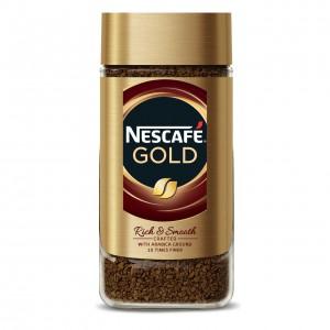 NESCAFE GOLD šķīstošā kafija ar grauzdētu malto kafiju, 200g