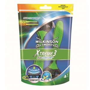 WILKINSON Xtreme3 Duo comfort skuvekļi 4gab