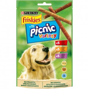 FRISKIES PICNIC suņu gardums (dažādas garšas), 126g