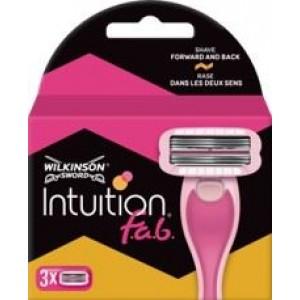 WILKINSON SWORD INTUITION FAB skūšanās sistēmas kasetes sievietēm 3gb