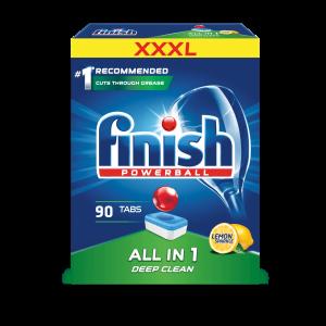 FINISH All in 1 Lemon tabletes trauku mazgāšanas automātiem 90gab.