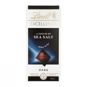 LINDT Excellence Tumšā šokolāde ar jūras sāli, 100g
