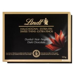 LINDT Swiss Thins Tumšā šokolāde, 125g