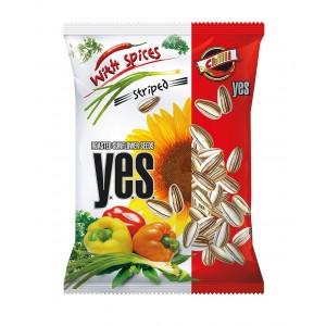 Y.E.S. grauzdētas saulespuķu sēklas ar čili garšu,150g